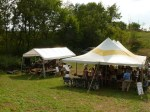 performance tent and hop picking tent
